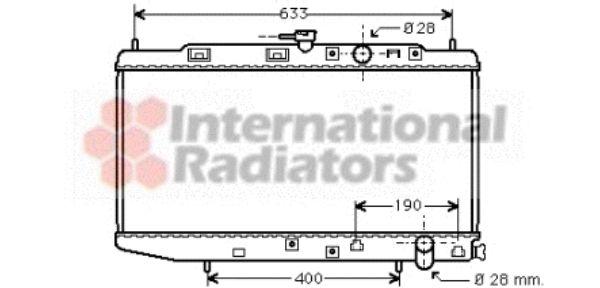 Radiateur, refroidissement du moteur - VAN WEZEL - 25002044