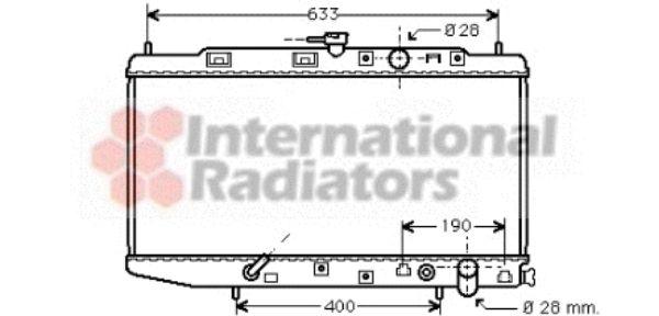 Radiateur, refroidissement du moteur - VAN WEZEL - 25002045