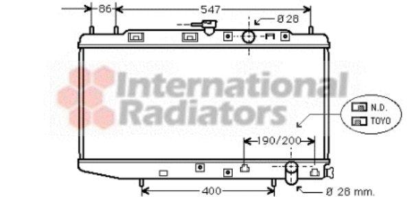 Radiateur, refroidissement du moteur - VAN WEZEL - 25002047
