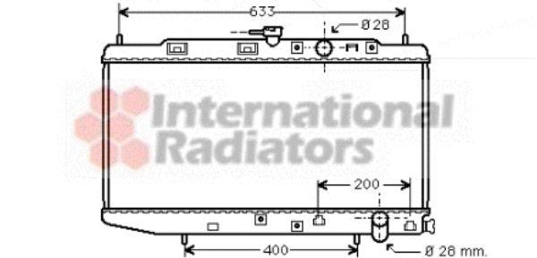 Radiateur, refroidissement du moteur - VAN WEZEL - 25002048