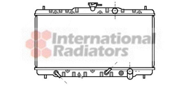 Radiateur, refroidissement du moteur - VAN WEZEL - 25002053