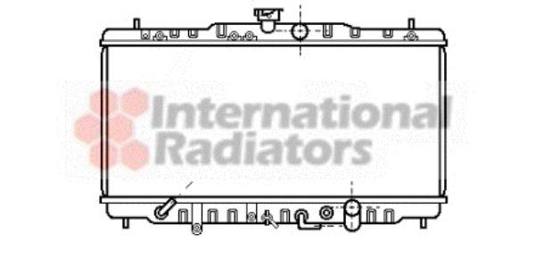 Radiateur, refroidissement du moteur - VAN WEZEL - 25002056