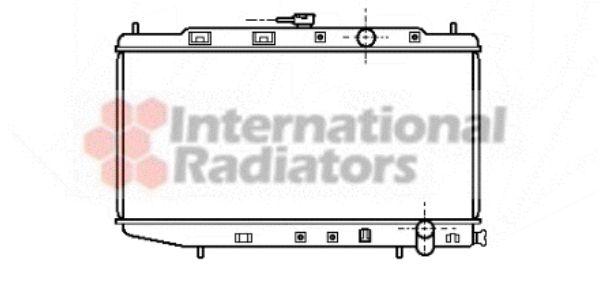 Radiateur, refroidissement du moteur - VAN WEZEL - 25002058