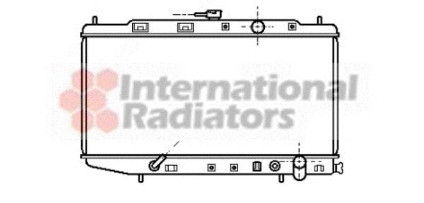Radiateur, refroidissement du moteur - VAN WEZEL - 25002059