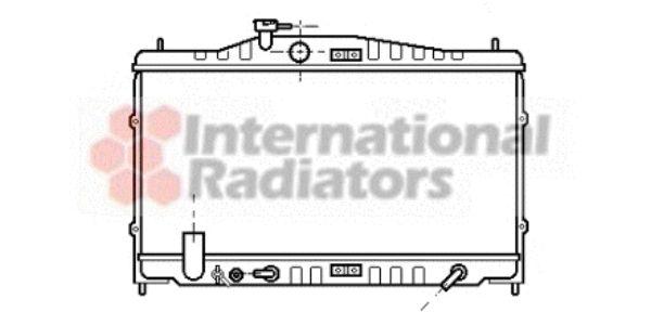 Radiateur, refroidissement du moteur - VAN WEZEL - 25002061