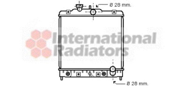 Radiateur, refroidissement du moteur - VAN WEZEL - 25002069