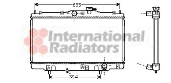 Radiateur, refroidissement du moteur - VAN WEZEL - 25002070