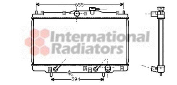 Radiateur, refroidissement du moteur - VAN WEZEL - 25002071