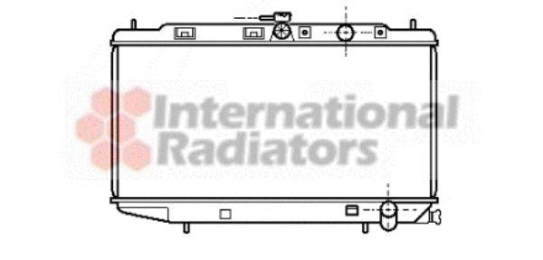 Radiateur, refroidissement du moteur - VAN WEZEL - 25002072