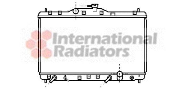 Radiateur, refroidissement du moteur - VAN WEZEL - 25002074
