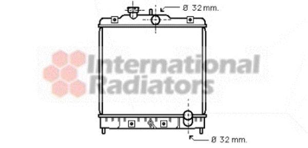 Radiateur, refroidissement du moteur - VAN WEZEL - 25002075