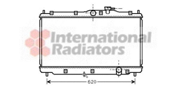 Radiateur, refroidissement du moteur - VAN WEZEL - 25002078