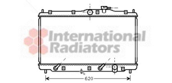 Radiateur, refroidissement du moteur - VAN WEZEL - 25002079