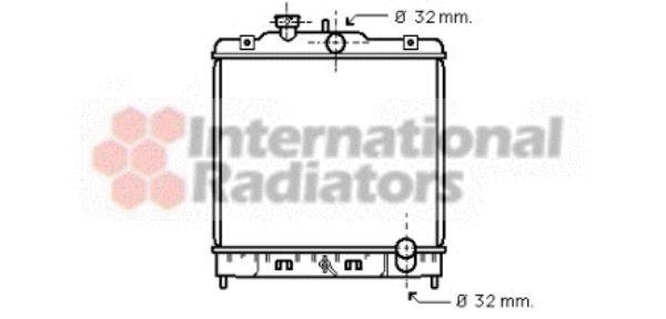 Radiateur, refroidissement du moteur - VAN WEZEL - 25002080