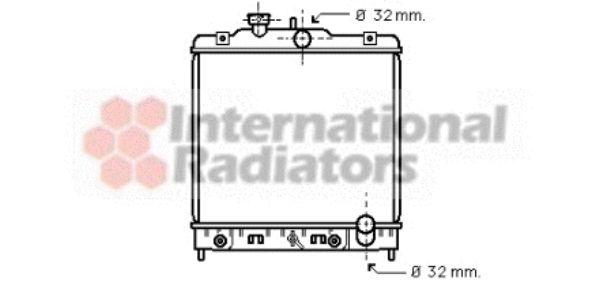 Radiateur, refroidissement du moteur - VAN WEZEL - 25002081