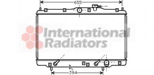 Radiateur, refroidissement du moteur - VAN WEZEL - 25002094