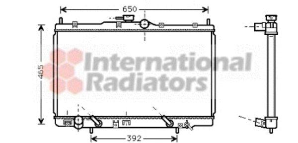 Radiateur, refroidissement du moteur - VAN WEZEL - 25002100