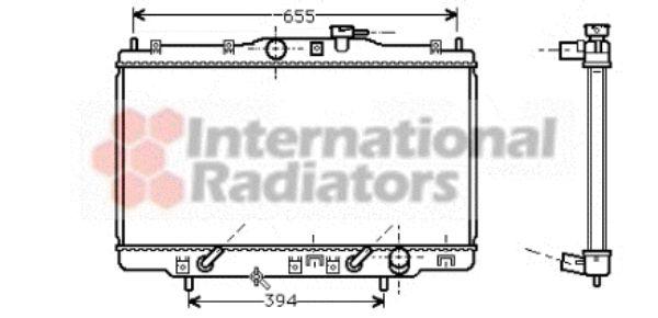 Radiateur, refroidissement du moteur - VAN WEZEL - 25002102
