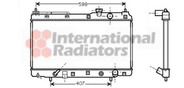 Radiateur, refroidissement du moteur - VAN WEZEL - 25002104