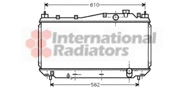 Radiateur, refroidissement du moteur - VAN WEZEL - 25002113
