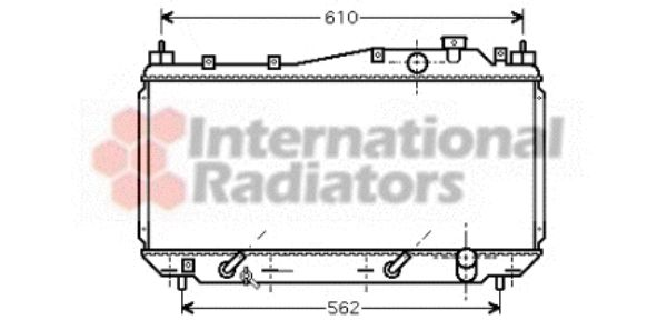 Radiateur, refroidissement du moteur - VAN WEZEL - 25002114