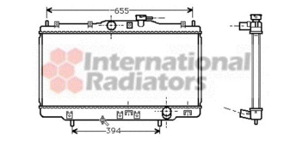 Radiateur, refroidissement du moteur - VAN WEZEL - 25002118