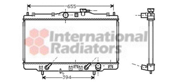Radiateur, refroidissement du moteur - VAN WEZEL - 25002119