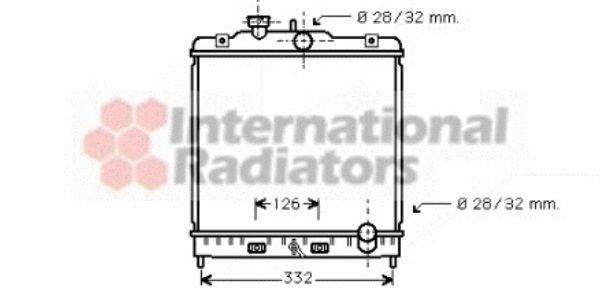 Radiateur, refroidissement du moteur - VAN WEZEL - 25002120