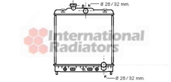 Radiateur, refroidissement du moteur - VAN WEZEL - 25002123