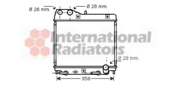 Radiateur, refroidissement du moteur - VAN WEZEL - 25002161