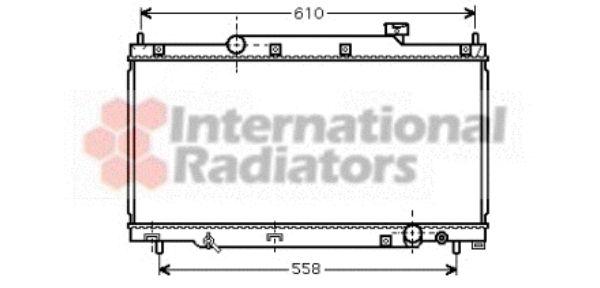 Radiateur, refroidissement du moteur - VAN WEZEL - 25002164