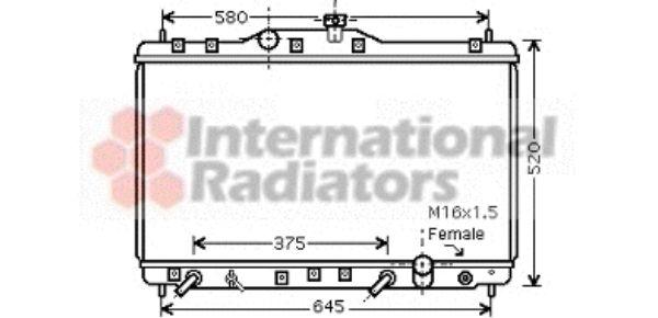 Radiateur, refroidissement du moteur - VAN WEZEL - 25002173