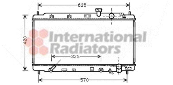 Radiateur, refroidissement du moteur - VAN WEZEL - 25002174