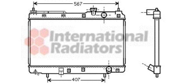 Radiateur, refroidissement du moteur - VAN WEZEL - 25002175