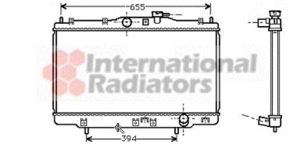 Radiateur, refroidissement du moteur - VAN WEZEL - 25002176
