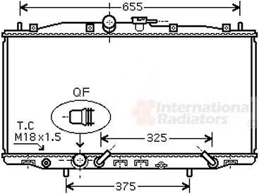 Radiateur, refroidissement du moteur - VAN WEZEL - 25002177