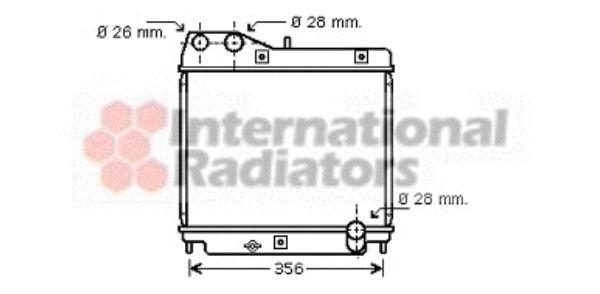 Radiateur, refroidissement du moteur - VAN WEZEL - 25002178