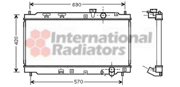 Radiateur, refroidissement du moteur - VAN WEZEL - 25002180