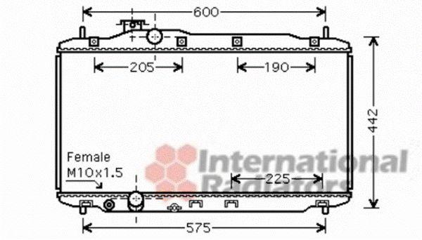 Radiateur, refroidissement du moteur - VAN WEZEL - 25002189