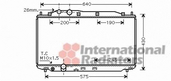 Radiateur, refroidissement du moteur - VAN WEZEL - 25002191