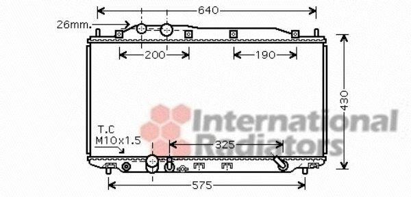 Radiateur, refroidissement du moteur - VAN WEZEL - 25002192