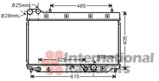 Radiateur, refroidissement du moteur - VAN WEZEL - 25002195