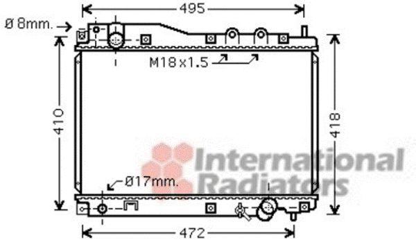 Radiateur, refroidissement du moteur - VAN WEZEL - 25002204