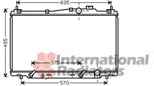 Radiateur, refroidissement du moteur - VAN WEZEL - 25002205