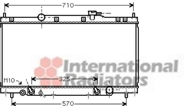 Radiateur, refroidissement du moteur - VAN WEZEL - 25002212