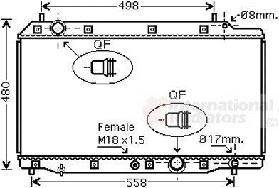 Radiateur, refroidissement du moteur - VAN WEZEL - 25002215