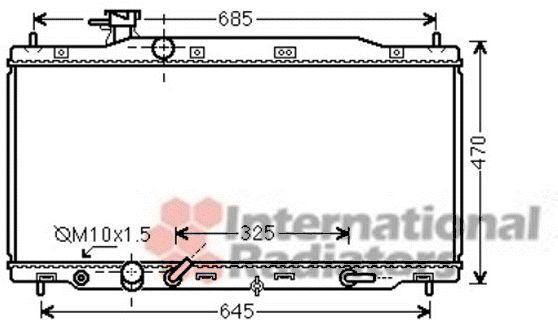 Radiateur, refroidissement du moteur - VAN WEZEL - 25002226