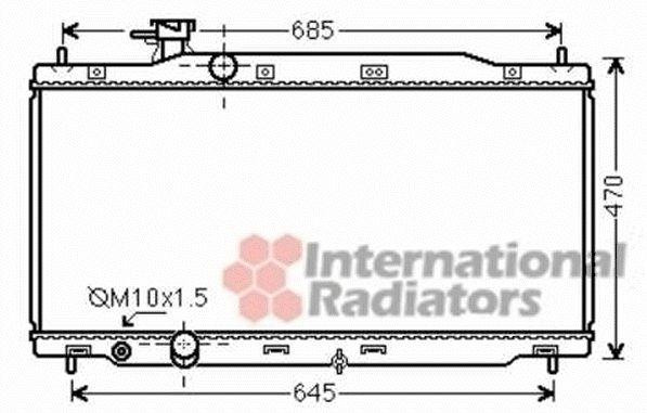 Radiateur, refroidissement du moteur - VAN WEZEL - 25002241