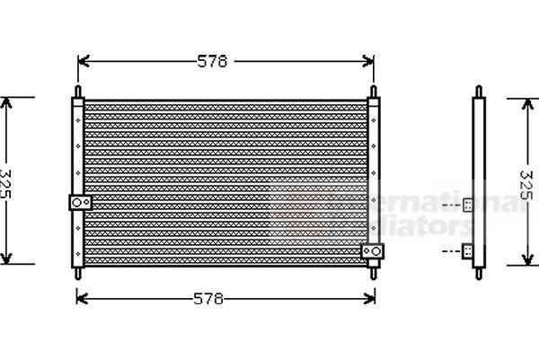 Condenseur, climatisation - VAN WEZEL - 25005062
