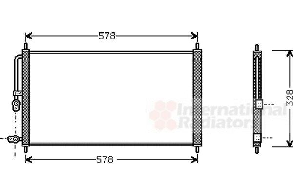 Condenseur, climatisation - VAN WEZEL - 25005083